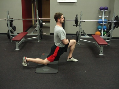 Sports training wrong hip flexor stretch