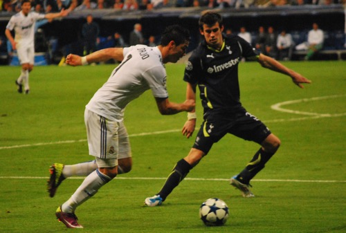 Cristiano Ronaldo Real Madrid Gareth Bale Tottenham