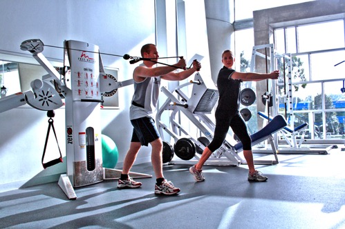 Personal Training at a Gym Cable Crossover