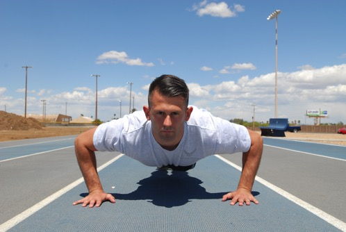 Airman doing pushup