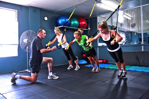 Group Personal Training at a Gym