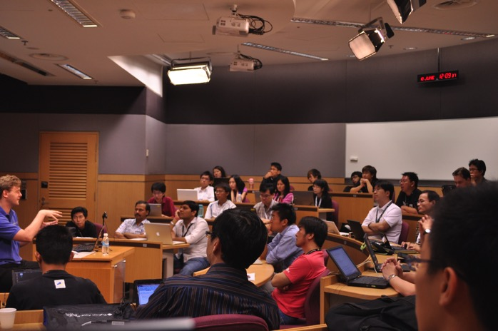 PyCon Asia Pacific in a seminar room at Singapore Management University 20100610 01