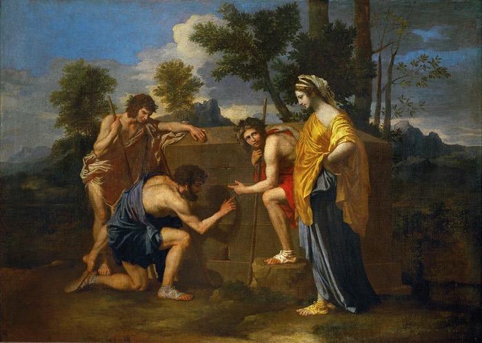 Nicolas Poussin Et in Arcadia ego deuxième version cropped