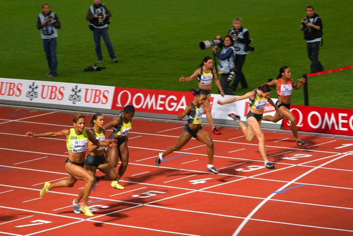 100m women Golden League 2007 in Zurich