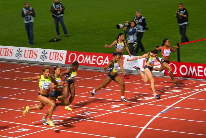 100m women Golden League 2007 in Zurich