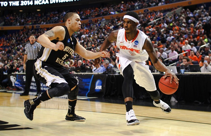 CJ Fair dribbling