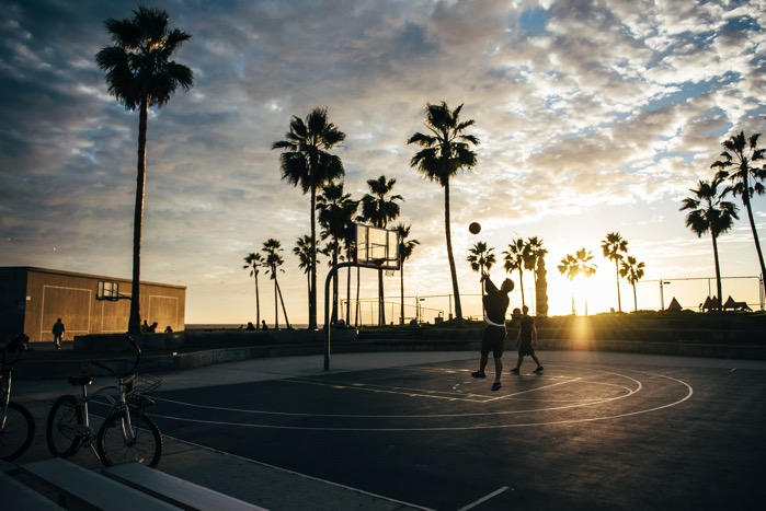 Basketball basketball court beach 305244